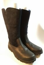 TIMBERLAND Winter Boots Black Suede/Leather Boots Girls Sz 7 Woman's Sz 9 8490R