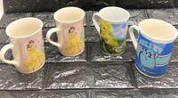 Disney Mug Lot 4 Princess Fairies Tinker Bell Monsters Inc Sully Mickey EUC