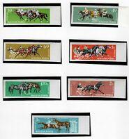 S22304) Hungary 1961 MNH Horse SPORTS 7v Ungezähnt