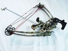 50 lbs, Ambidextrous / Delta Bow with Draw holding device Camo+ Cylinder quiver