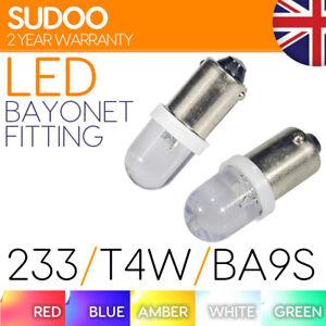 Ba9s T4w Sidelight Led White 233 Car Side Interior Bulbs Light Red Green Amber