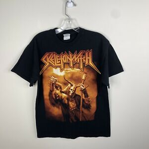 Gildan Mens M Black Skeletonwitch At One With The Shadows Short Sleeve Shirt