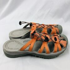 KEEN Women's Sport Sandals Walking Shoes Size 6.5  Slip On Orange