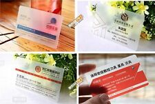 Expedited 500 PVC Plastic Business Card Printing - Frost Transparent Translucent
