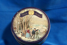 Winter Pastime Curry & Ives Decorated Cookie Tin