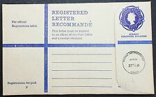 Jersey Channel Isla Registered Letter Stationery 22 1/2p GB GS R-Brief (L-1122