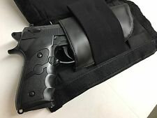 MENS/LADIES CONCEALED GUN LEATHER LARGE FANNY PACK/WAISTBAG *QUICK RELEASE FAST*