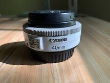 Canon EF 40mm f/2.8 STM Pancake Lens White