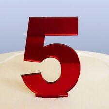 contemporain Numéro 5 gâteau décoration - copié Rouge