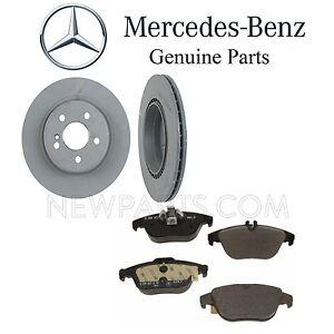 For Mercedes C207 E350 E550 W204 C204 A204 Rear Brake Pad Set & Rotors Kit