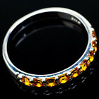 Citrine 925 Sterling Silver Ring Size 10.75 Ana Co Jewelry R20907