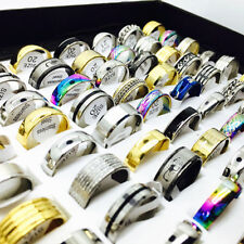 Wholesale Mix Lot 50pcs Stainless Steel Rings Party Engagement Jewelry Gifts