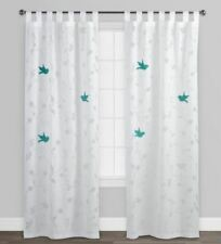 World Market Set of 9 Crinkle Voile Curtains 100 Cotton, in Good