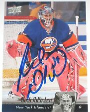 RICK DIPIETRO SIGNED 10-11 UPPER DECK NEW YORK ISLANDERS CARD AUTOGRAPH AUTO!