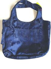 SHANGHAI TANG Silk Handbag Large Tote Shoulder Bag