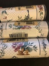 "Lot Of 3 Floral Border Paper, 15 Yards 5"" Wide"