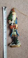 """6"""" Resin Santa Claus Christmas Figure/Ornament, pre-owned, nice condition"""