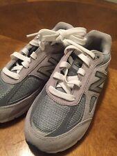 New Balance Big Kids 990v4 Running Shoe 2M Grey Very Nice