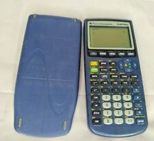 Texas Instruments TI-83 Plus Clear Blue Calculator Tested And Works!!!