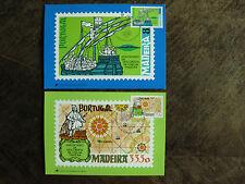 Madeira Mi.-Nr. 71-72 auf 2 Maximumkarten