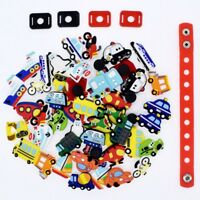 50pcs Mixed Vehicle Cars Shoe Charms Adapter For Clog Bracelets Party Boys Gift