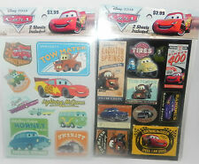 NEW DISNEY PIXAR CARS STICKERS 2 PACKS (4 SHEETS)