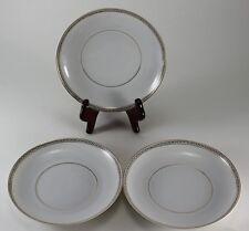 Vintage H & C Selb Bavaria Small Plates Black Gold Chain Trim