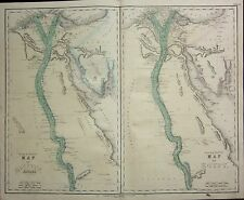 1850 LARGE HAND COLOURED MAP ~ AEGYPTUS ANTIQUA ANCIENT EGYPT ~ NILE