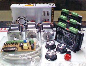 Cnc Mill 3axis Computer Control Kit NEMA23 Step Motor MIRCO STEPPER For Mcah3