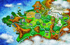 Pokemon X and Y Map - Wall Poster - Huge   -22 in x 34 in - Fast Shipping