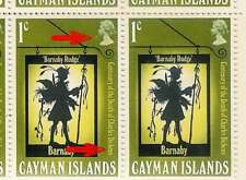 CAYMAN Is 1970 DICKENS RETOUCH + JOINED EN..BLOCK of 10