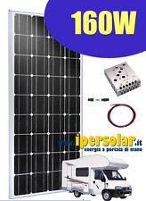Kit fotovoltaico 160W - Per camper-barca-baite-insegne