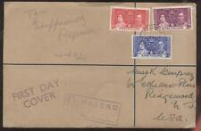 FDC FIRST DAY OF ISSUE COVER KING GEORGE VI 1937 CORONATION STAMPS BASUTOLAND
