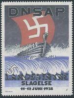 Artist Stamp Replica Label Denmark 02 WWII Reich Era Viking Ship MNH