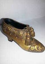 Collectible Decorative Ladies Goldish Shoe Steps In Time Sentimental Journey