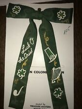 Vintage Saint Patrick's Clip On Bow Tie Country/Western/Square Dance