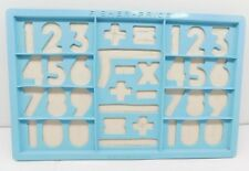 Fisher Price Blue Magnetic Number Tray #674 Replacement Vintage Toy