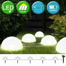 5LED Waterproof Solar Ball Light Pathway Garden Lawn Decor LED Landscape Lamp US