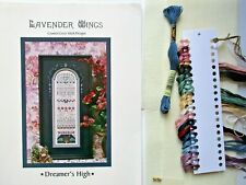 DREAMER'S HIGH Seasonal Counted Cross Stitch Kit 28 count linen LAVENDER WINGS