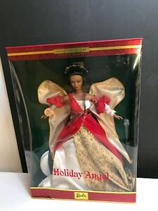 Holiday Angel Barbie Second in Series - African American- NEW