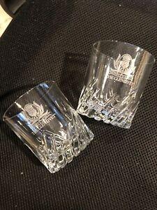 Vintage THE GLENLIVET Crest George & J. G. Smith Scotch Rocks Glasses Set of 2