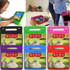 Kids Shock Proof Foam Case Handle Stand Screen Glass Cover For iPad Mini 2 3 4 5