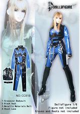 CC61B 1/6 Clothing-Blue/Black Female Bodysuit Full Set for HOT TOYS,Phicen