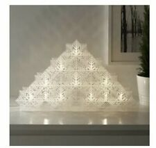 IKEA Strala LARGE Led Snowflake Fairy Light • H 31 cm x 80 cm NEW