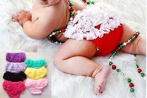 Baby Girls Tutu Ruffle Underwear Bloomers Bottom Brief Petti Nappy Cover Panties