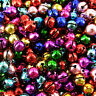 Jingle Bells, Silver Gold Mixed , Charm, Christmas Pendant ,8mm, 100 pack