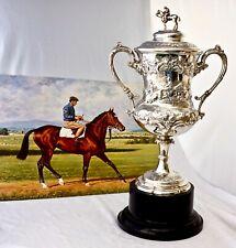 1880 Solid Silver Horse Racing Trophy. 6 x Irish Champion Jockey Liam Ward 1959.