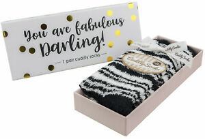 Ladies Womens Gift Fluffy Socks in a Box 'You are Fabulous!' Taubert Socks