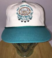 Vintage A&S CONSTRUCTION Montana 1998 Hat Cap Strapback MURPHY BROS INC NBPL CS