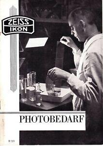 Zeiss Ikon Photobedarf (Photo Accessories) Catalogue 1936